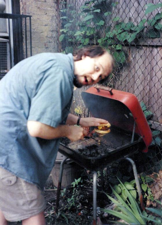 Alan grilling burgers