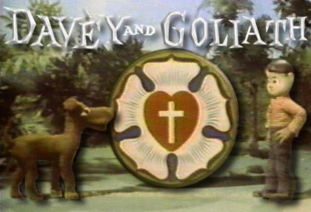 Logo for Davey and Goliath TV Show
