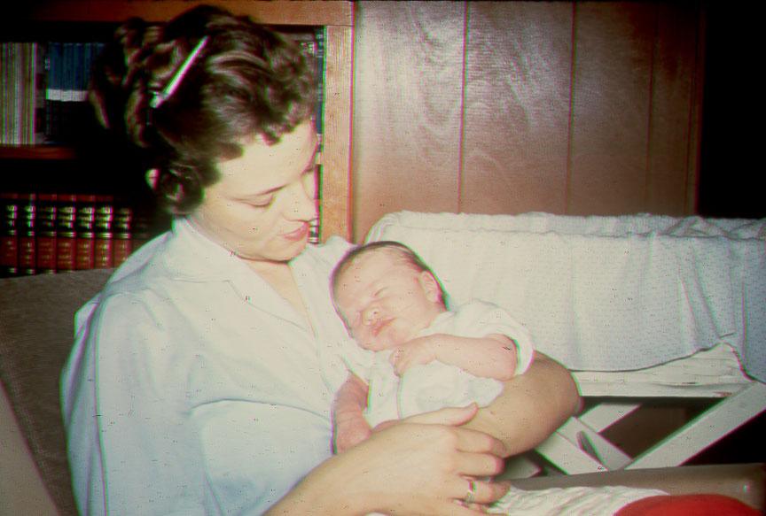 Nelda and Baby Randall, 1962